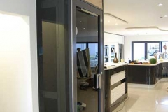Glass Home Lift in Kitchen