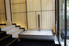 Hidden Disabled Access Lift in Hotel Lobby