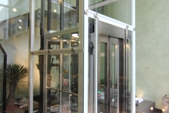 Glass Lift in Commercial Building Lobby