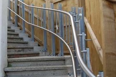 Detail of a 48-metre travel garden steps platform lift