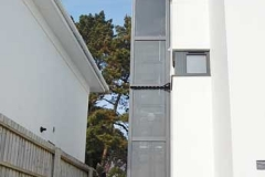 External home lift for flats by the sea