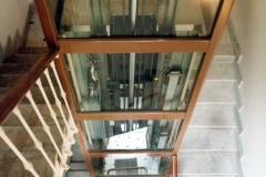 Glass lift in block of flats
