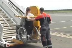 Disabled Access Lift for Planes