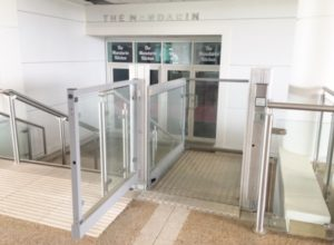 Step Lift Leading to the Mandarin Restaurant at Cheltenham Racecourse