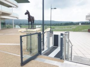 Outdoor Step Lift at Cheltenham Raceocurse