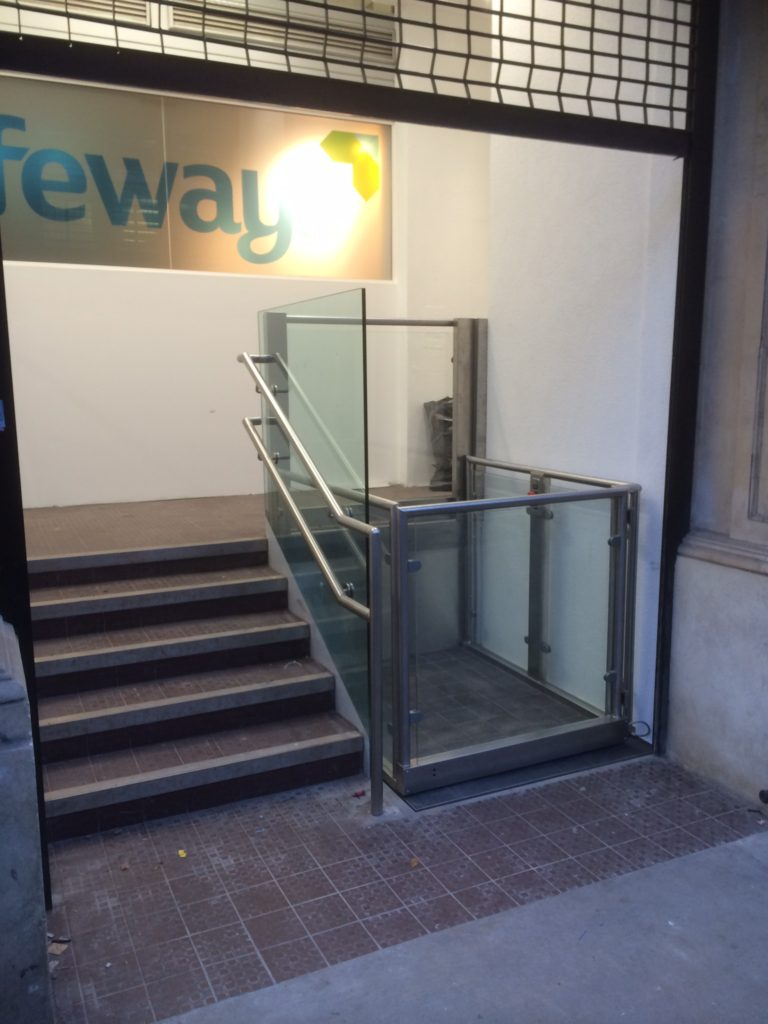 Street Entrance Step Lift