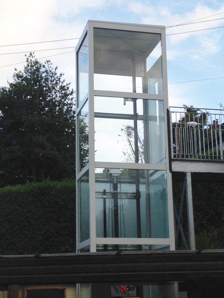 External Home Lift in Glazed Structure