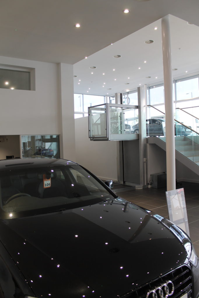 Lifts in Car Showrooms