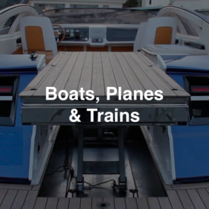 Lifts on boats, Lifts for Planes, Lifts for Trains