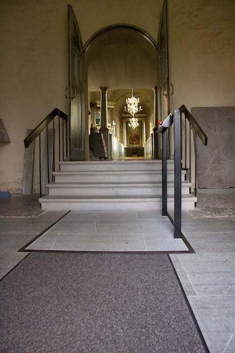 Hidden Disabled Lift in Church