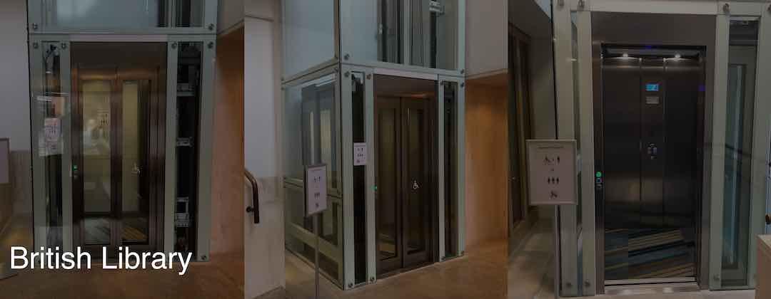 Lifts at the British Library