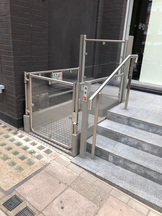 Outdoor Wheelchair Lift - Elm Yard