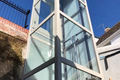 Outdoor Glass Home Lift in Brixham, Devon
