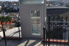 Glass Lift for Outside the Home in Brixham, Devon