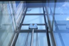 Outside Glass Home Lift in Brixham, Devon