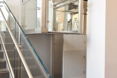 Glass Platform Lift in Public Building