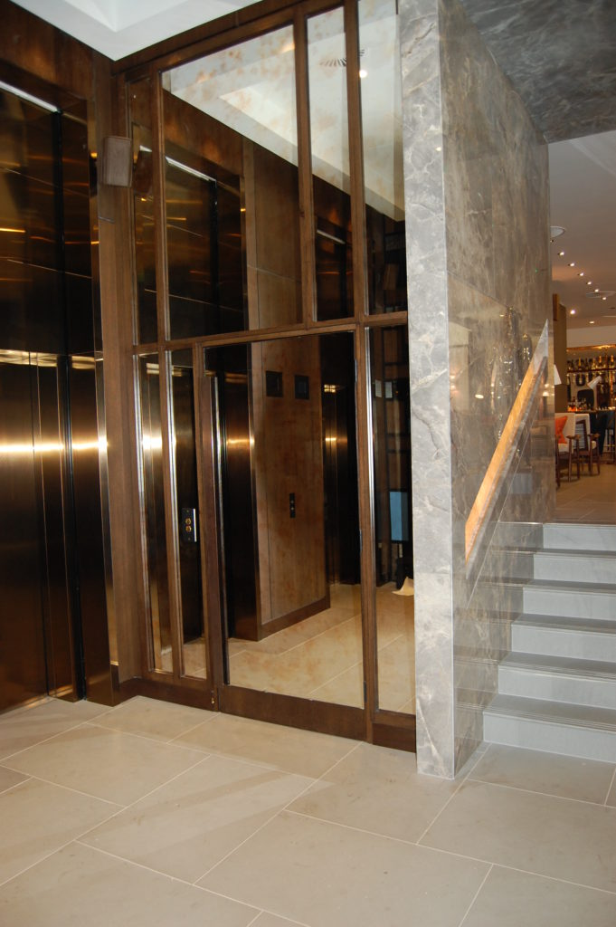 Platform Lift in the lobby of the Devonshire Club