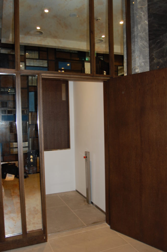 Platform Lift in the Devonshire Club Lobby - Open