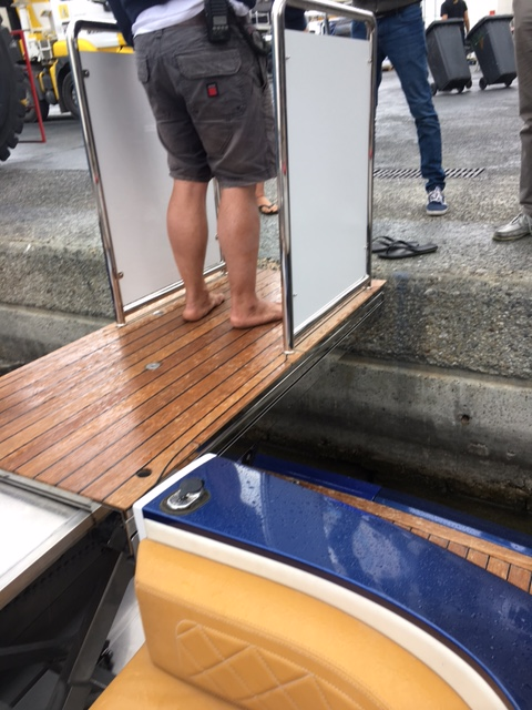 Platform Lift on a Speedboat