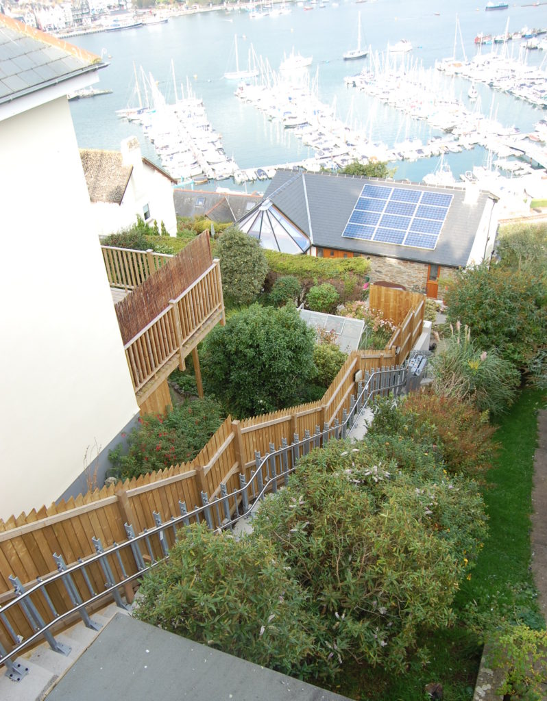 This inclined platform lift travelled over 44 metres in Dartmouth
