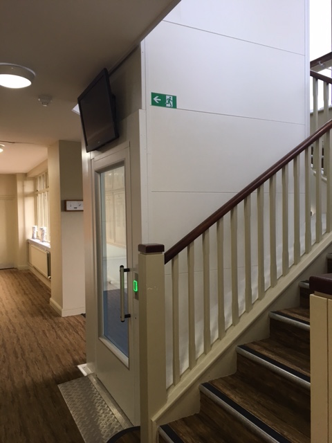 Lift in Stairwell at Cams Hall Golf Club, Fareham