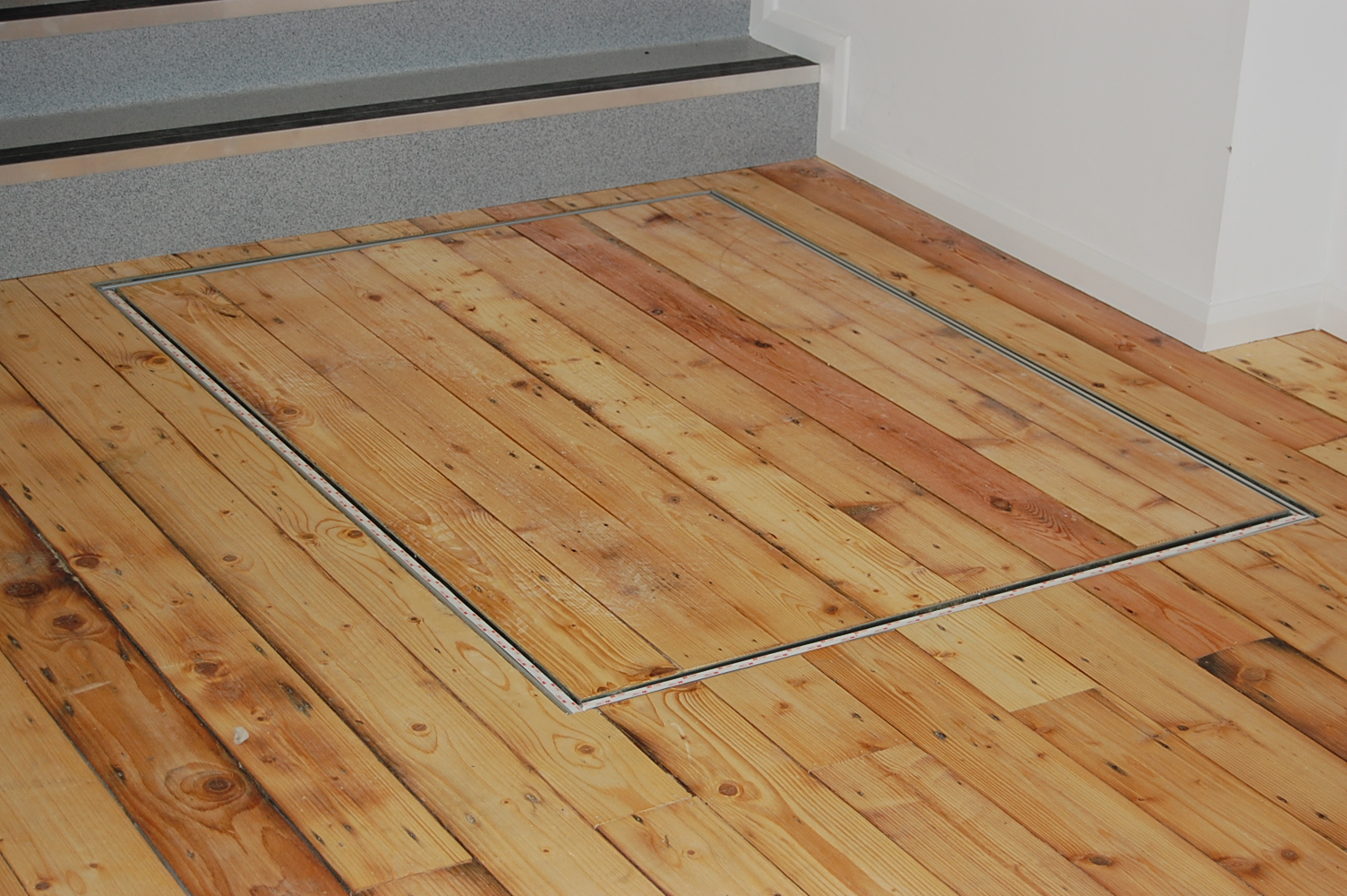 Step Lift at the Baltic Centre with Matching Hardwood Flooring