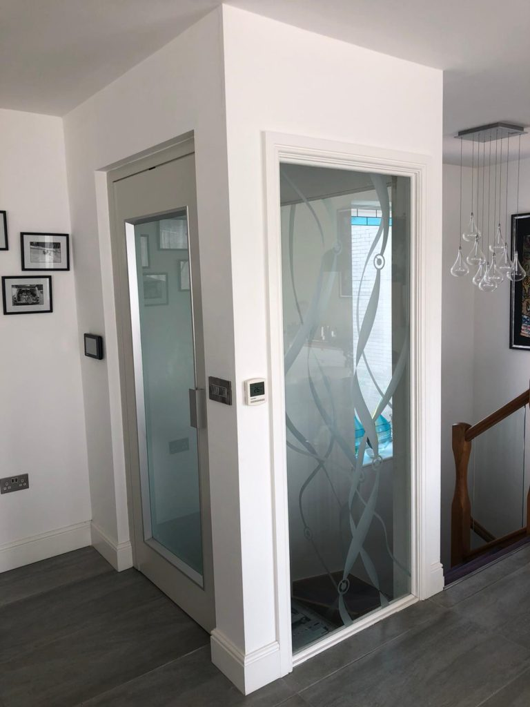 Home Lift in Poole, Dorset with glass lift shaft