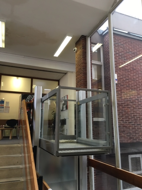 Platform Lift in Medway County Court Main Entrance