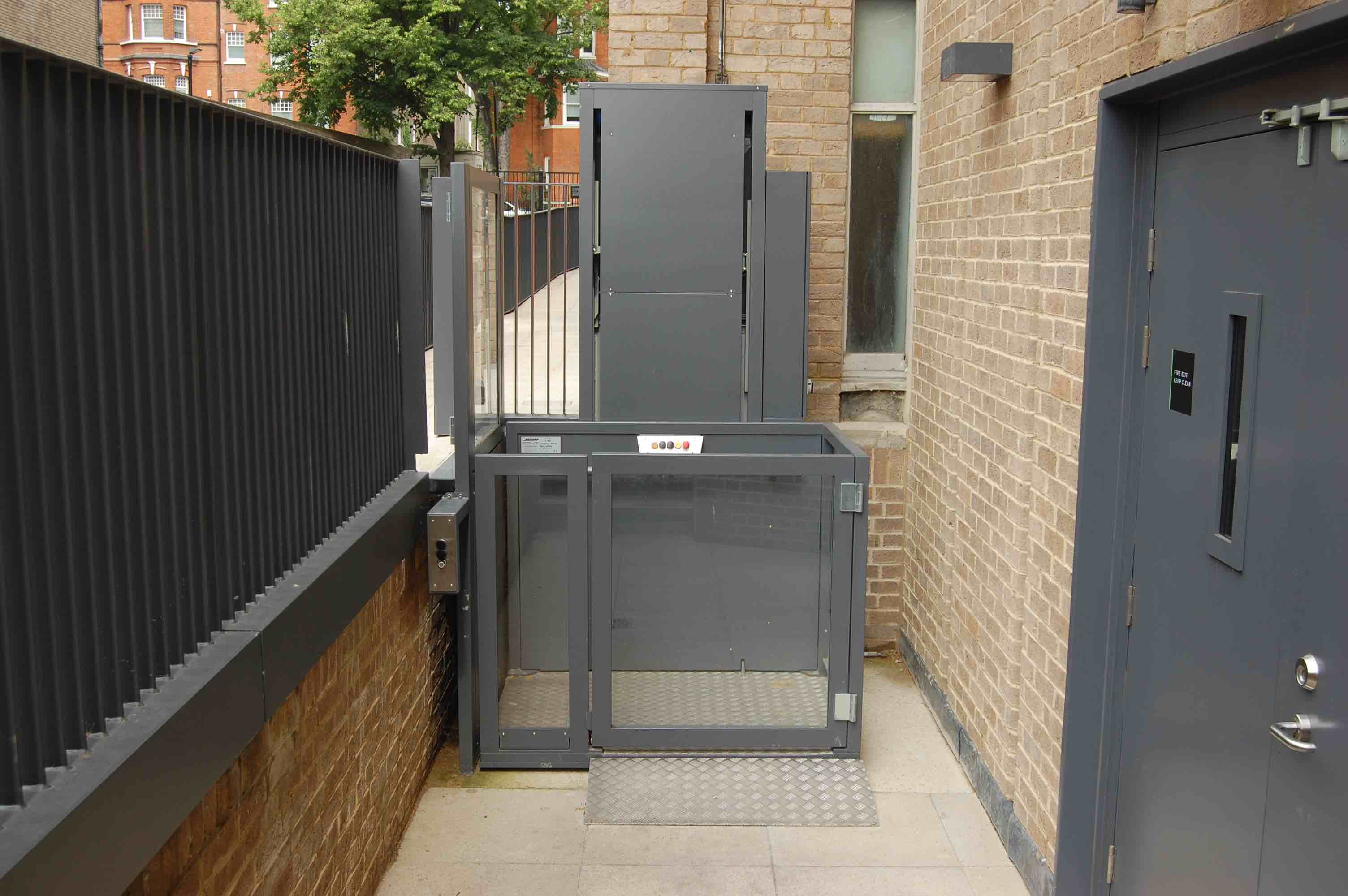 Outdoor Wheelchair Lift at the National Army Museum