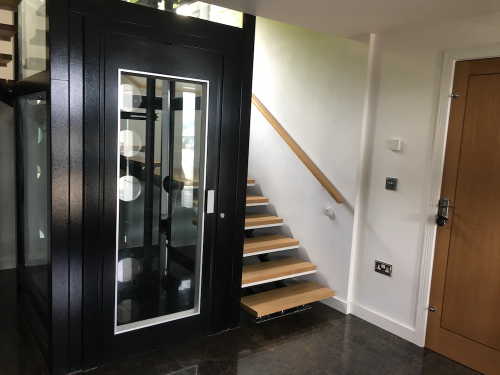 Ground floor of the home lift in Torquay
