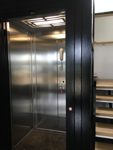 Internal brushed stainless steel cabin in home in Torquay