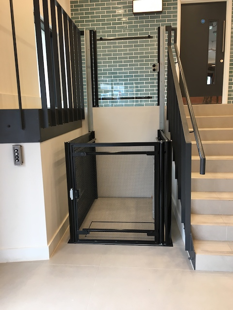 Open platform lift at Venture House in Reading
