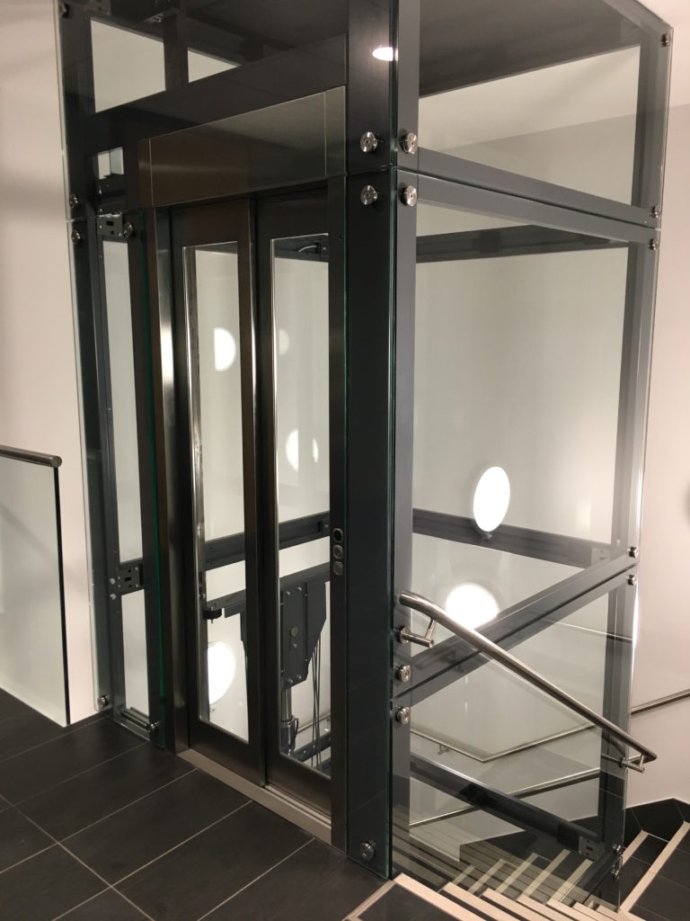 Glass Lift in Newly Built Office for Pertemps