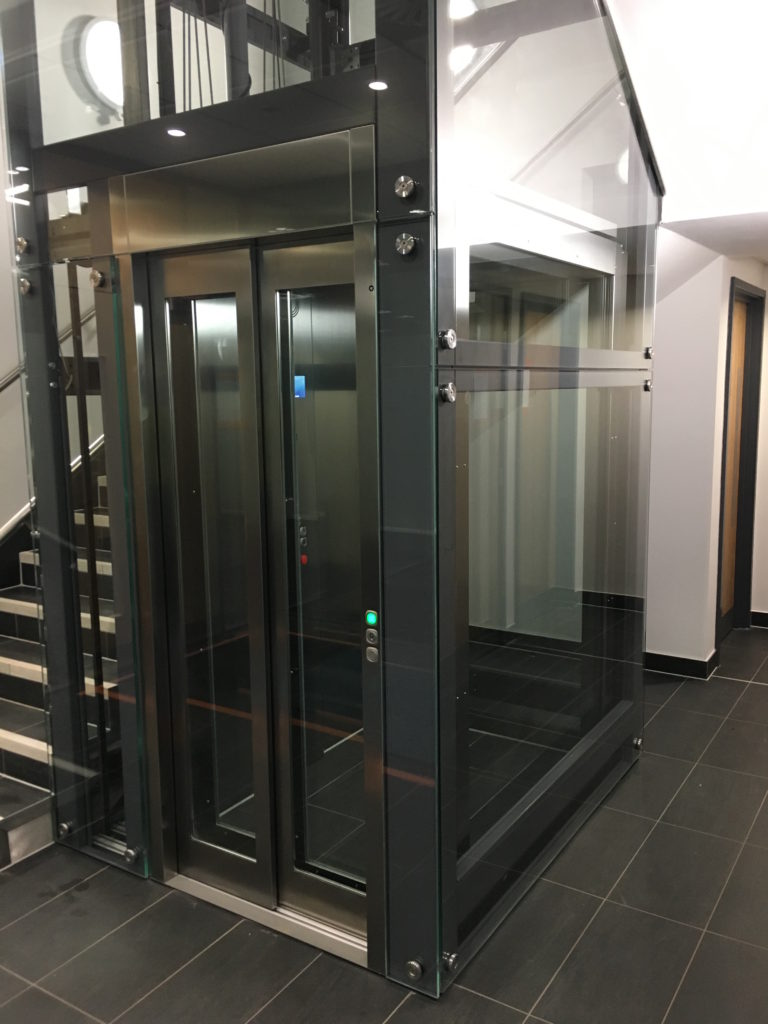 Glass Office Lift at Meriden Hall, Warwickshire