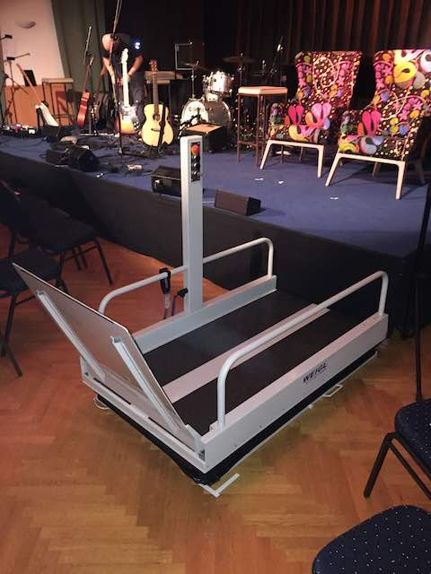 Portable Step Lift at the American School