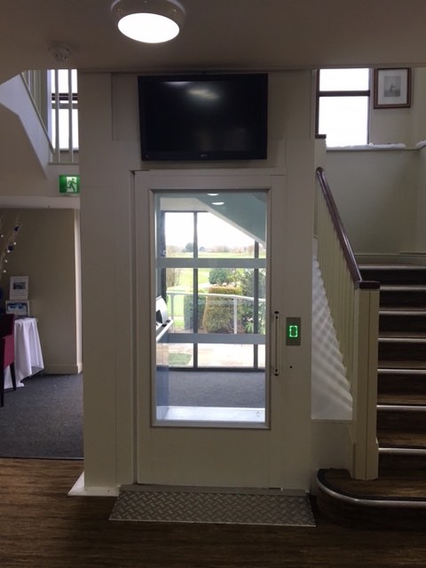 Platform Lift in Cams Hall Golf Clubhouse
