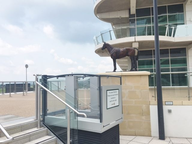 Outdoor Disabled Platform Lift at Cheltenham Racecourse
