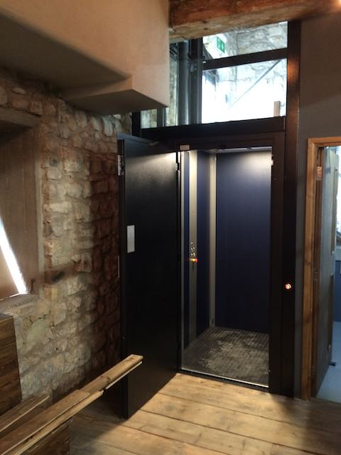 Disabled Platform Lift in Dancing Man Brewery