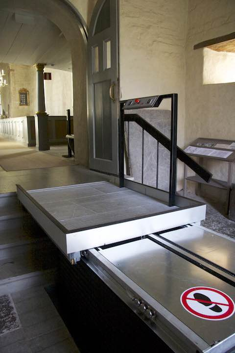 Wheelchair Platform Lift in Church Chapel