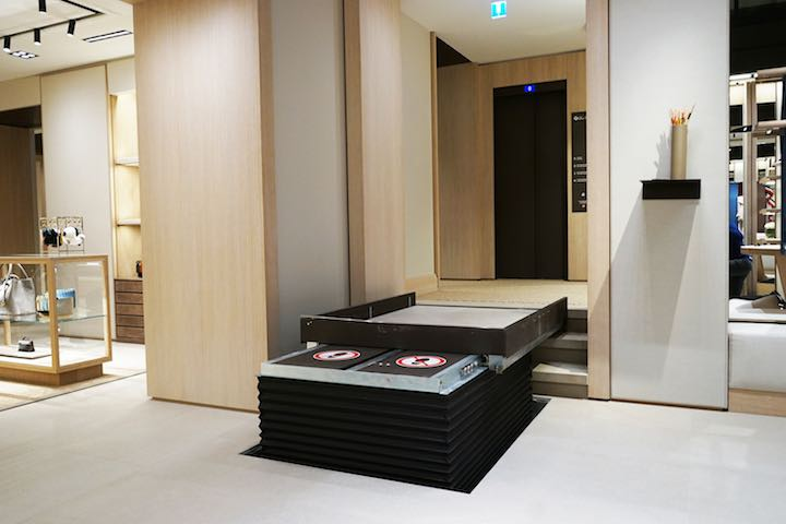 Hidden Step Lift in Boutique