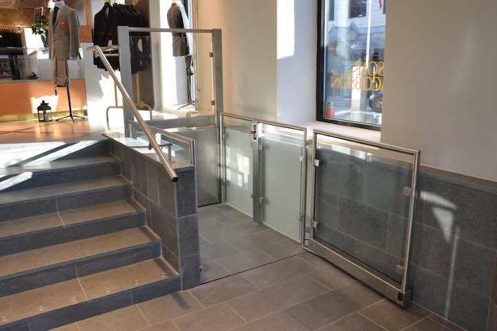 Disabled Platform Lift in Suit Tailors