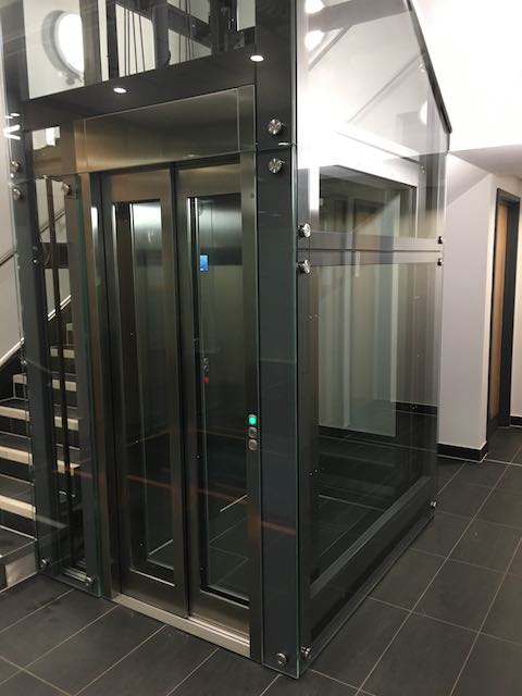 Glass Lift at Meriden Hall