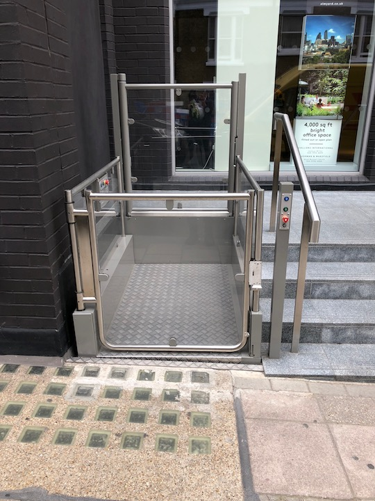 Outdoor Wheelchair Platform Lift - Elm Yard