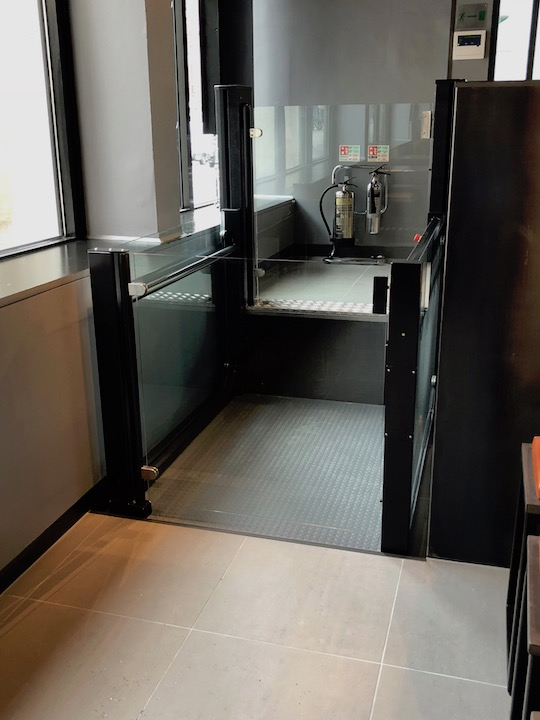 Wheelchair Platform Lift in Wagamama