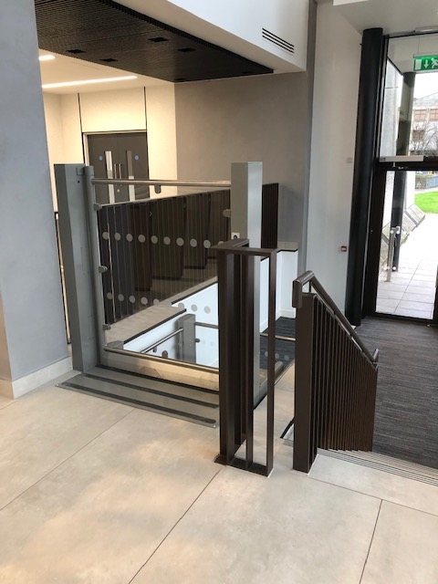 Platform Lift at central Cardiff office building