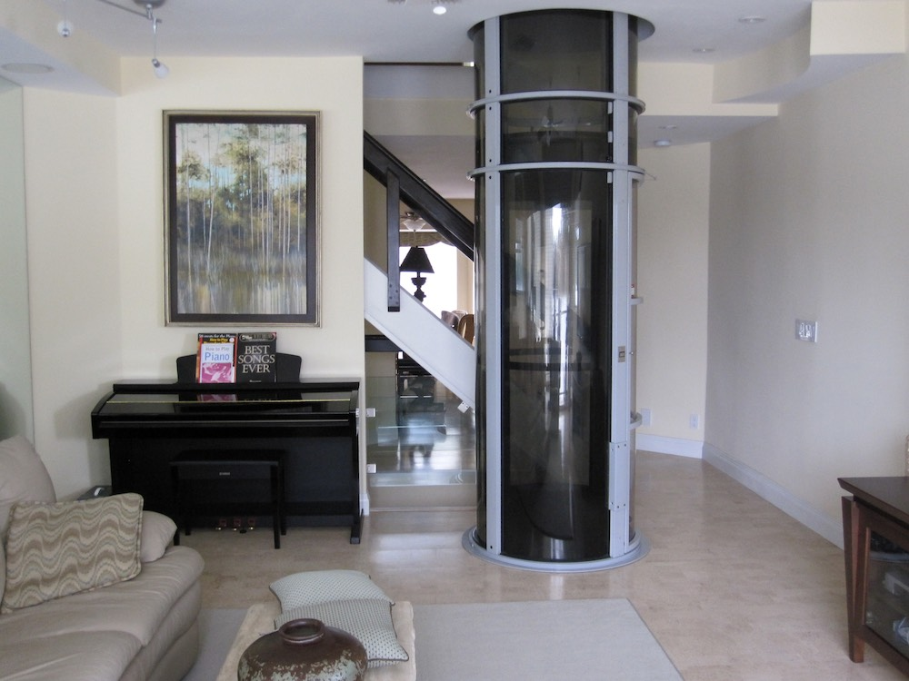 Pneumatic Home Lift with Tinted Glass