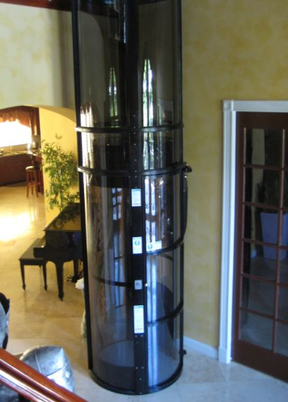 Pneumatic Home Lift with Black Structure