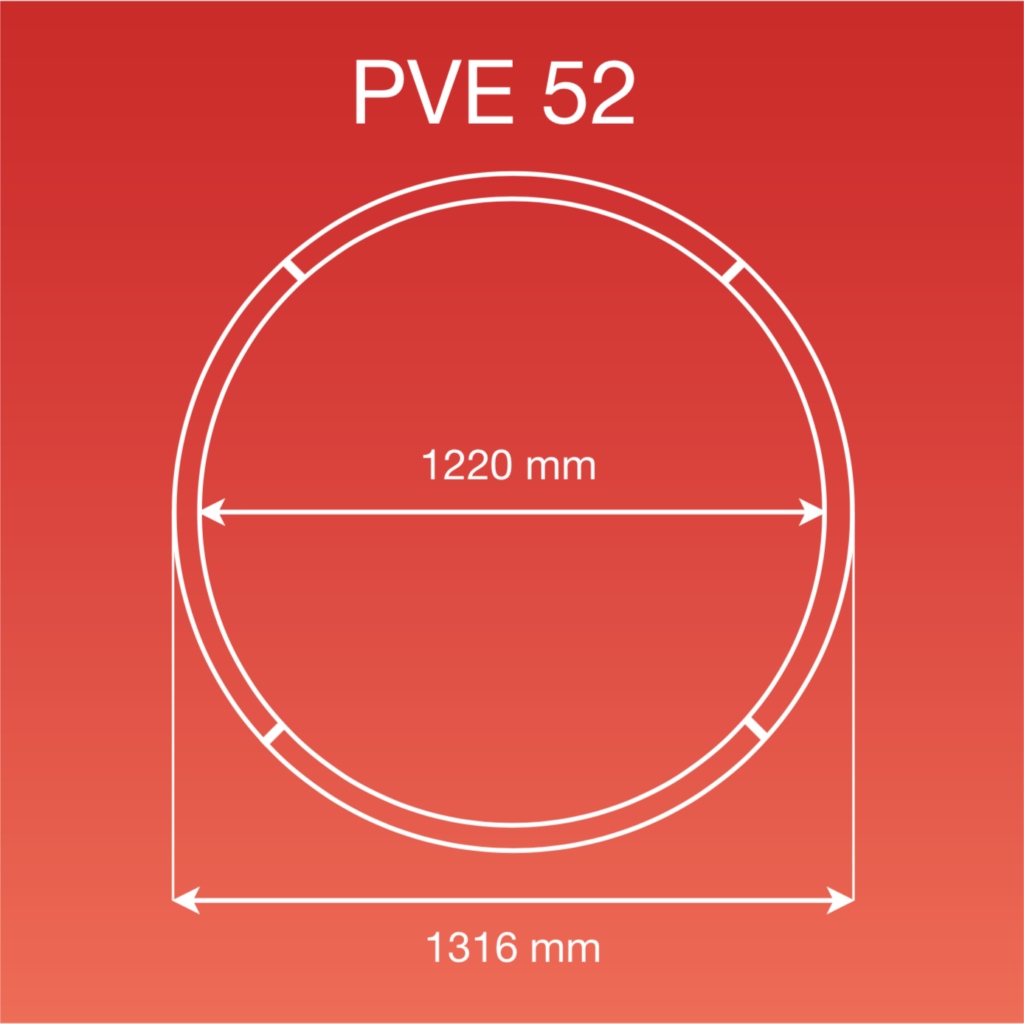 Internal and external measurements of the PVE 52