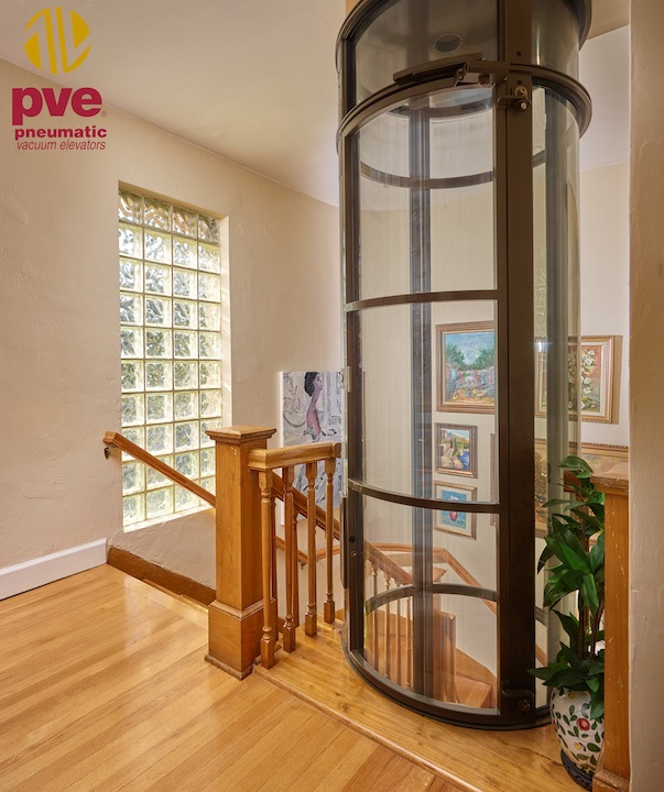 Pneumatic home lift in Taupe