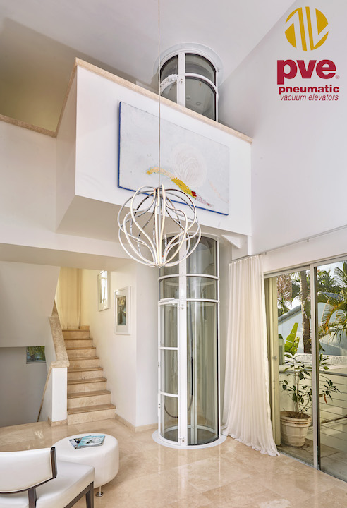 Pneumatic Home Lift in White